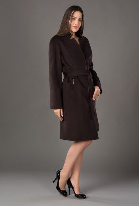 Стильное женское кашемировое пальто средней длины молодежное
