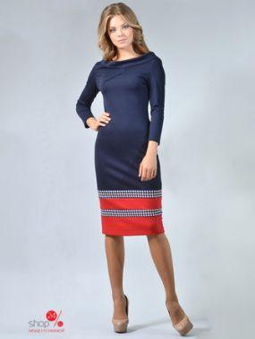 Платье LILA KASS, цвет темно-синий, красный