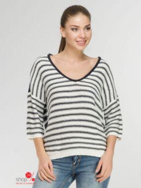 Пуловер Tom Tailor, цвет белый, черный