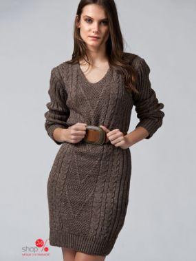Платье SHAZA, цвет кофейный