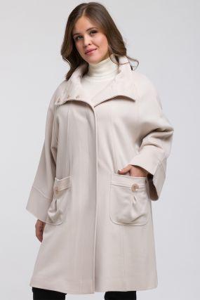 Итальянское пальто сваггер без меха на большой размер