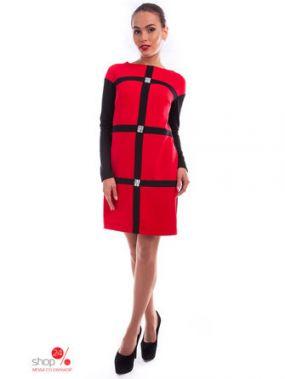 Платье Modus, цвет красный, черный