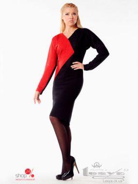 Платье Lesya, цвет черный, красный