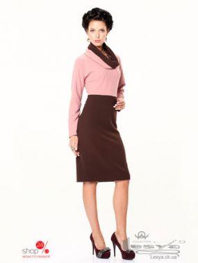 Платье Lesya, цвет коричневый, розовый