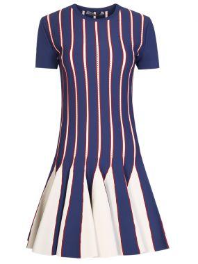 Мини-платье в полоску