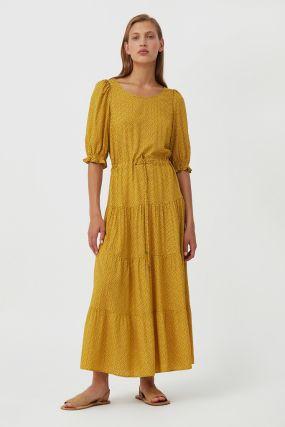 платье в горох из вискозы