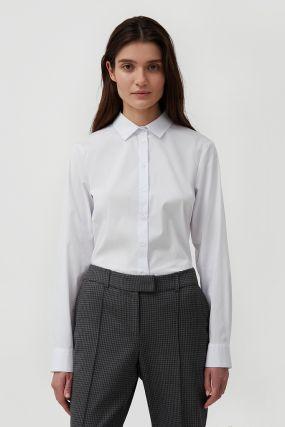 классическая женская рубашка приталенного силуэта