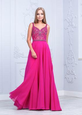 Вечернее платье цвета фуксия CH097BY1