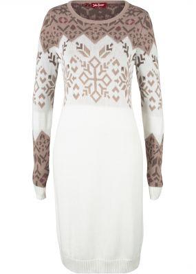 Платье вязаное с норвежским узором
