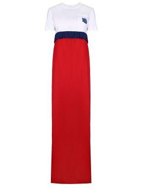 Платье-макси в пол с принтом