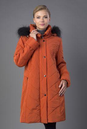 Демисезонное финское пальто на синтепоне с капюшоном