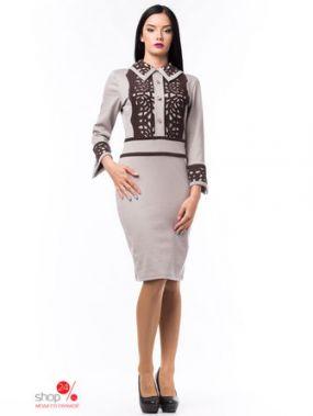 Платье Bes Tia(Бестия), цвет бежевый