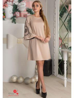 Платье The First Land of Fashion, цвет бежевый
