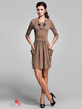 Платье Barlen, цвет бежевый