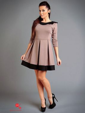 Платье IVONNE FASHION, цвет бежевый, черный