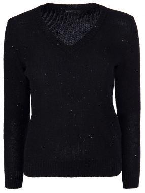 Пуловер с пайетками