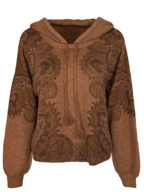 Кашемировый свитер с капюшоном