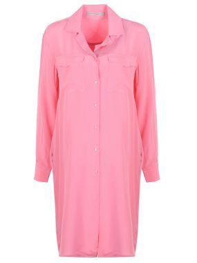 Платье-туника шелковое