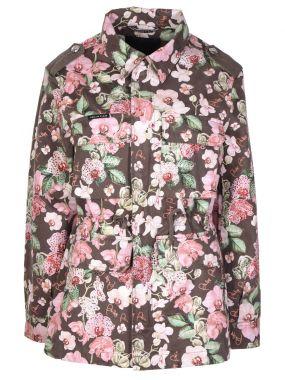 Куртка-парка с принтом Flowers