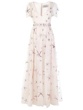 Платье шелковое с пайетками