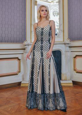 Платье в стиле бохо из черного кружева AR001B