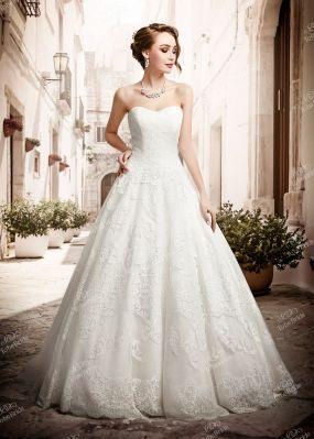 Свадебное платье с открытыми плечами и шлейфом PP021