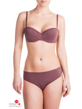 Бюстгальтер-бандо пуш-ап Rose & Petal Lingerie, цвет коричневый