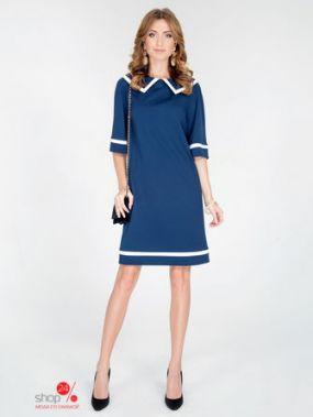 Платье Olga Skazkina, цвет синий, молочный