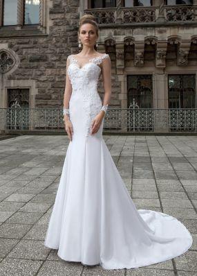 Свадебное платье-русалка с длинными рукавами SOL016
