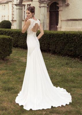 Платье-русалка с открытой спиной для невесты SOL007