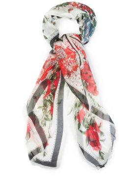 Шёлковый платок с принтом
