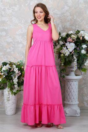 Платье трикотажное Мирайн (розовое)