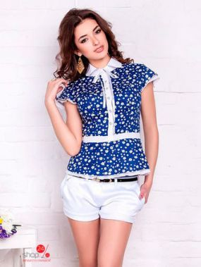 Блуза Vision Fashion Store, цвет синий