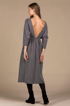 Платье Черешня с открытой спиной речной перламутр (40-42)