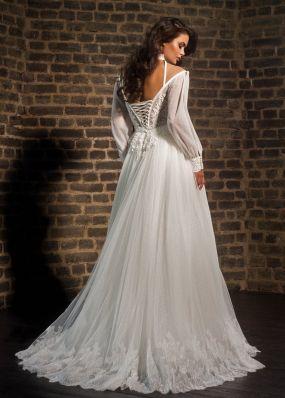 Пышное свадебное платье с оригинальными рукавами F18155201X