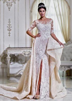 Свадебное платье-русалка с шлейфом A17186371Z
