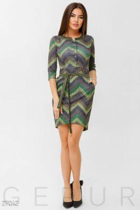 Цветное трикотажное платье