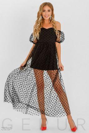 Прозрачное вечернее платье