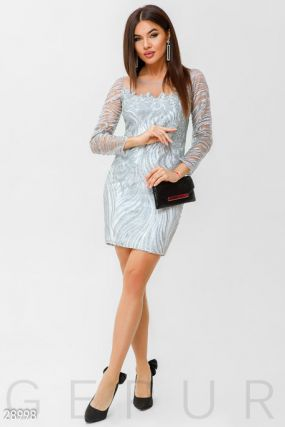 Декорированное коктейльное платье