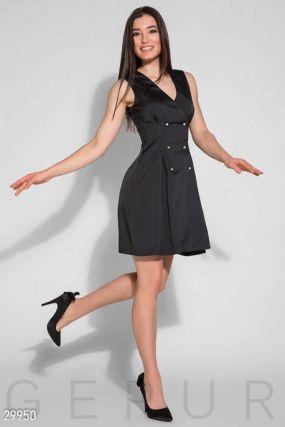 Двубортное деловое платье