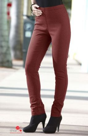 Узкие брюки Cellbes, цвет бордовый, рисунок