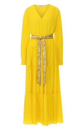 Шелковое платье с поясом Emilio Pucci
