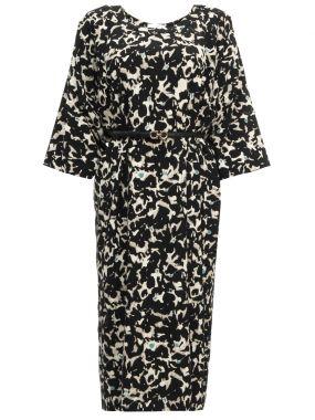 Платье-миди из шелка