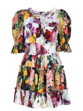 Платье мини с принтом
