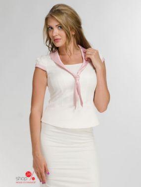 Жакет Lo, цвет белый, розовый