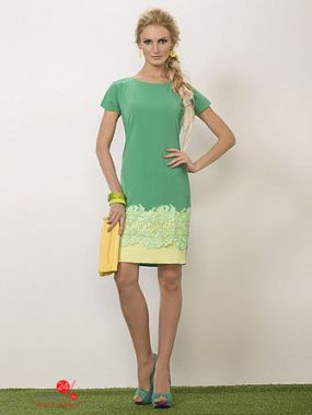 Платье Noche Mio, цвет зеленый, желтый