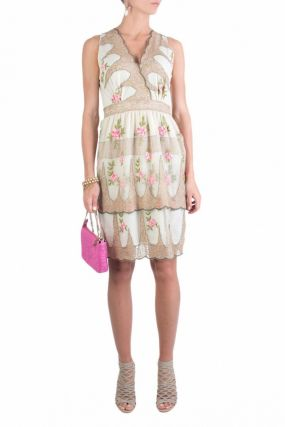 Платье с розами и люрексом