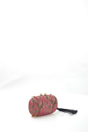 Клатч розовое кружево