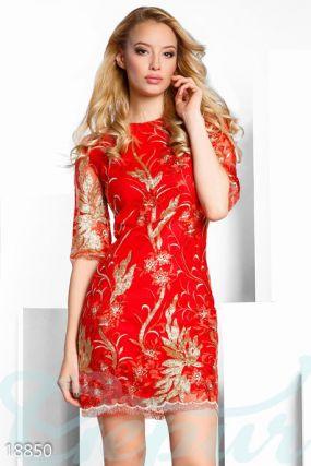 Праздничное платье пайетками