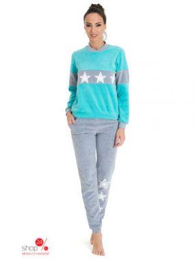Комплект: свитшот, брюки Tenerezza, цвет мятный, серый